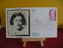 FDC - Simone Weil 1909/1943 - Paris- 10.11.1979 - 1er Jour - FDC