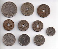 REF 1  : Lot Monnaie Belgie Belge Belgique 10 Pièces Différentes - Belgique