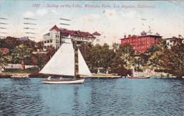 California Los Angeles Sailing On The Lake Westlake Park 1919