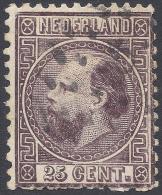 NETHERLANDS 1867 25c VIOLET Nº 11 - Usati