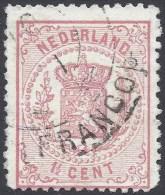 NETHERLANDS 1869 1 1/2c ROSE Nº 16 - Usati