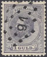 NETHERLANDS 1872 1g VIOLET Nº 28 - Oblitérés