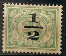 Timbres - Pays-Bas - Indes Néerlandaises - 1920-1922  -  1/2 Cent. -