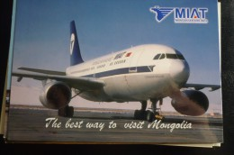 AIRLINES ISSUE / CARTE COMPAGNIE    MIAT  MONGOLIAN AIRLINES - 1946-....: Moderne