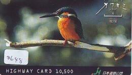 Telecarte Japon OISEAU (3648) MARTIN PECHEUR * KINGFISHER  * Phonecard Japan * BIRD * TK EISVOGEL - Birds