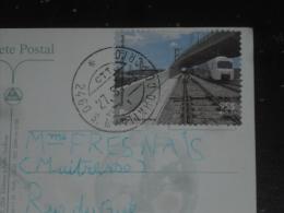 LETTRE PORTUGAL AVEC YT 2340 - PONT TRAIN LOCOMOTIVE - OBIDOS - - Covers & Documents