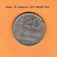 BRAZIL   20  CENTAVOS  1970  (KM # 579.1) - Brazil