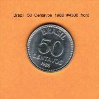 BRAZIL   50  CENTAVOS  1988  (KM # 604) - Brazil
