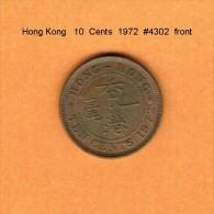 HONG KONG   10  CENTS  1972  (KM # 28.3) - Hong Kong