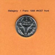 MALAGASY   1  FRANC  1986  (KM # 8) - Madagaskar