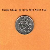 TRINIDAD & TOBAGO   10  CENTS  1978  (KM # 31) - Trinidad & Tobago