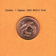ZAMBIA   1  NGWEE  1983  (KM # 9a) - Zambia