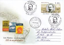 MOLDOVA   MOLDAVIE  MOLDAWIEN  2011 Pre-paid Envelope. I.Nistor  Historical , Writer, Map ; FDC. Used. - Moldova
