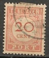 Timbres - Pays-Bas - Indes Néerlandaises - 1902-1909 - Taxes - PORT - 20 Cent. -