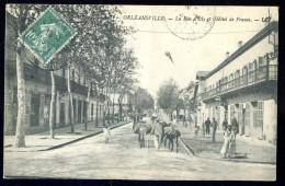 Cpa Algérie Orléansville  La Rue D' Isly Et L' Hôtel De France  JUI33 - Algerije