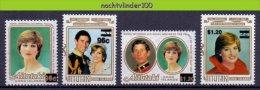 Mhl013 KONINGSHUIS LADY DIANA PRINCE CHARLES ROYALTY PRINCESS DIANA * OVERPRINT * AITUTAKI 1983 PF/MNH # - Familles Royales