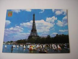75 - PARIS  * NOMBREUX VOILIERS SUR LA SEINE DEVANT LA TOUR EIFFEL  * - Eiffelturm