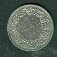 Suisse, Confédération Helvétique, 2 Francs, 1968 B  - Pieb6301 - Suisse