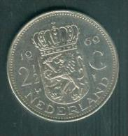 PAYS BAS : 2 1/2 GULDEN 1969   Tb   - Pieb6306 - 1948-1980 : Juliana