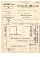 LA BROCHE-DIGOIN à MOISSAC-- Facture  USINES DE LABROCHE LA BROCHE-DIGOIN--voir Scans - France