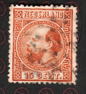 Pays  Bas  Nederland  - 1867 - 15 C Brun Rouge  Oblitéré - Used Stamps