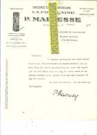 59 - Nord - CAMBRAI - Facture MAIRESSE - Chicorée LA FRANCAISE – 1924 - REF 120 - France