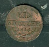 AUTRICHE - Ein Kreuzer 1816 A  Peib6401 - Austria