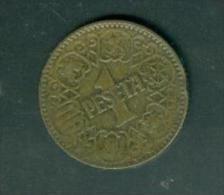 Espagne    1  PESETA Alu-bronze 1944   Peib6407 - [ 4] 1939-1947 : Gobierno Nacionalista