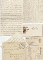 LIGNEUVILLE ..-- Guerre 14-18 .   Courrier En Allemand . Documents !! - Malmedy