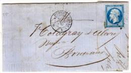 MONTAUBAN -  Lettre Adressée A BORDEAUX Avec Cachet Ambulant Cette A Bordeaux Sur Yvert 14 A(72979) - Postmark Collection (Covers)