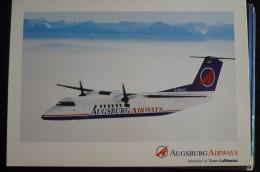 AIRLINES ISSUE / CARTE COMPAGNIE     AUGSBURG AIRWAYS - 1946-....: Moderne