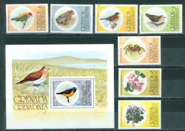 Grenada & Grenadines 1976 Birds, Flowers, Spider MNH** - Lot. A339 - Grenade (1974-...)
