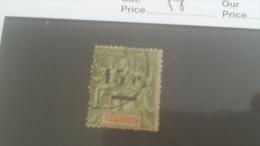 LOT 227896 TIMBRE DE COLONIE REUNION OBLITERE N�55 VALEUR 19 EUROS