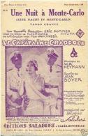 CAF CONC PARTITION***FILM LE CAPITAINE CRADDOCK 3 UNE NUIT À MONTE CARLO MURAT BOYER HEYMANN POMMER UFA ACE 31 - Music & Instruments