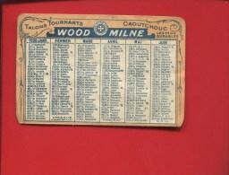 WOOD MILNE TALONS  MINI CALENDRIER 1920 CAOUTCHOUC - Kalenders