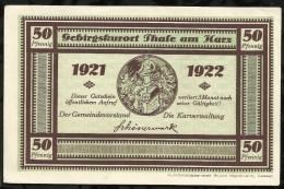 BILLET DE NECESSITE . THALE AM HARS . 50 PFENNIG . 1921 / 1922 . - [11] Emissions Locales