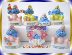 Schtroumpfs Babies Brillantes ... Lot De 7 Feves ... Ref AFF :3-1998... (Pan 0023 ) - Strip