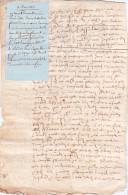 Acte Notarié Notaire Vicomté Avranche 50 France- Quitance Proces Hamerey Le Landais Faissandiere Froment1605 - Documents Historiques