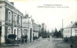 N°39718 -cpa Condé Sur Huisne -avenue De La Gare- - Frankreich