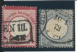 ALLEMAGNE Empire :  Obl.n°4 Et 5(réf Yvert Et Tellier), Le N°5:1 Dt Crte, B - Gebraucht