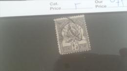 LOT 227965 TIMBRE DE COLONIE TUNISIE OBLITERE N�5 VALEUR 75 EUROS