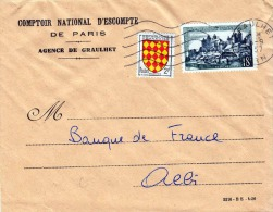 Brief FRANKREICH 1958, 2 Fach Frankierung + Sonderstempel Gelaufen 1958 - Frankreich