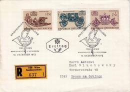 FDC Recobrief Österr.1972 -  ANK (1436-1438) Satzfrankierung Auf Reco Erstagsbrief - FDC