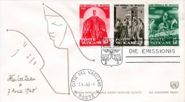 FDC VATICAN 1960 - First Day Cover - 3 Fach Frankierung - FDC