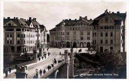 MARIBOR - Kralja Petra Trg, Fotokarte Gel.1929, 2 Fach Frankiert, Verlag F.M.Nowak Maribor - Slowenien