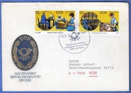 Schmuckbrief Mit DDR Posthorn Geprägt (gold-blau) 2 Sondermarken Und Sonderstempel, Stempel BERLIN 1979 - [6] Democratic Republic