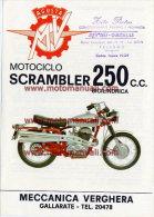 MV Agusta Moto 250 B Scrambler 1970 Depliant Originale Genuine Factory Brochure Prospekt - Engines