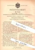 Original Patent - Siegfried Schick In Bruck An Der Mur , 1905 , Getriebe Für Motorfahrzeuge , Automobile , Österreich !! - KFZ