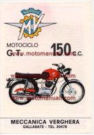 MV Agusta Moto 150 GT 1971 Depliant Originale Genuine Factory Brochure Prospekt - Moteurs