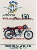 MV Agusta Moto 150 RSS 1971 Depliant Originale Genuine Factory Brochure Prospekt - Motoren